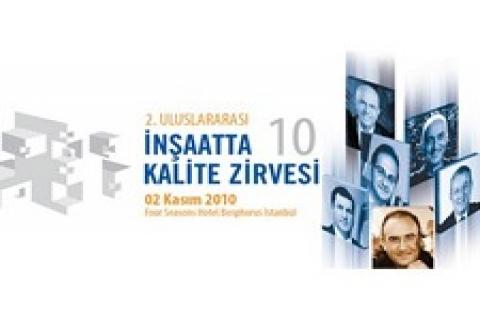 2. Uluslararası İnşaat Kalite Zirvesi, 2 Kasım'da yapılacak!