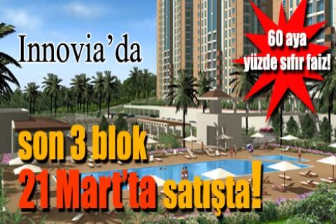 Innovia'da son 3 blok 21 Mart'ta satışta!