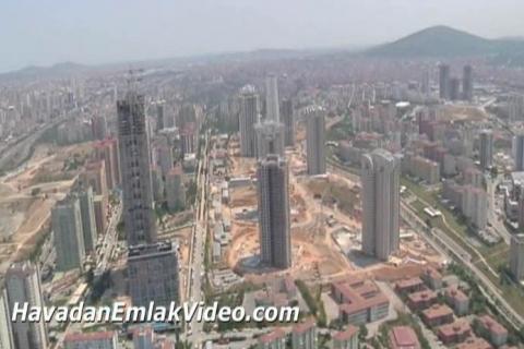 Ataşehir'de yer alan konut projelerinin havadan görüntüleri!