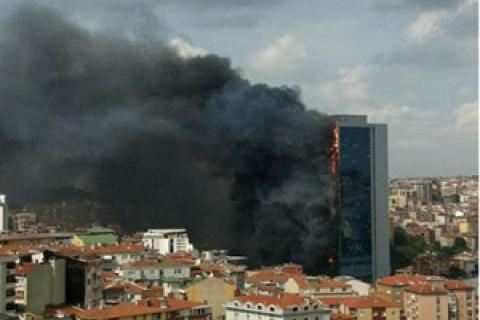 Polat Tower Residence yangının sebebi elektrik kontağı çıktı!