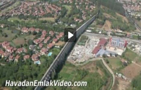 Göktürk bölgesindeki konut projelerinin havadan görüntüleri!