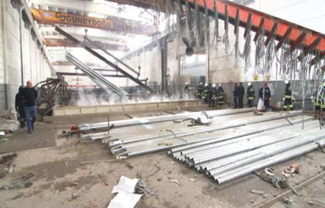 Gaziantep'te galvaniz fabrikasında patlama meydana geldi!