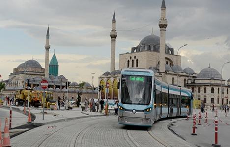 Konya'da tramvay deneme
