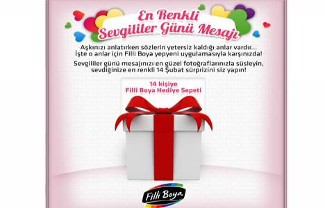 Filli Boya'dan En Renkli Sevgililer Günü Mesajı kampanyası!