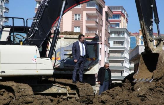 Atakum'da inşaat çalışmaları
