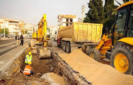 Bornova'daki cadde çalışmaları Şubat ayında tamamlanacak!