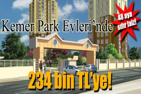 Kemer Park Evleri'nde 234 bin TL'ye! 48 aya sıfır faiz!