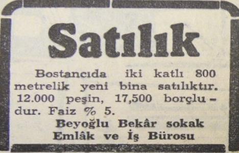 1951 yılında Bostancı'da 800 metrekare bina 29.500 liraya satılacakmış!