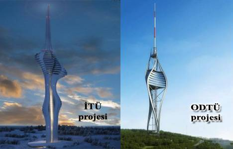 Çamlıca Tepesi Tv ve Radyo Kulesi projesinin mimarisi İTÜ'den!