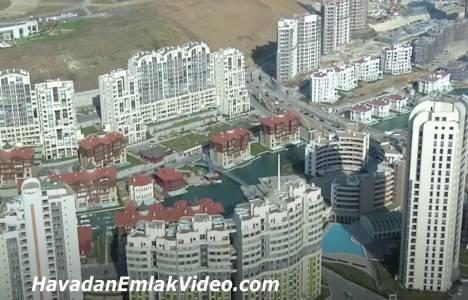 Halkalı'da yer alan konut projeleri havadan görüntülendi!