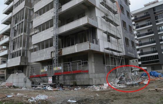 Samsun'da inşaatta dehşet!
