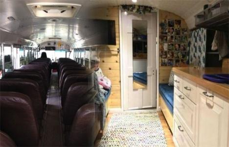 Washington'da okul servisinden ev yapıldı!
