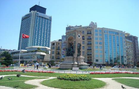 Taksim'de otellerdeki oda
