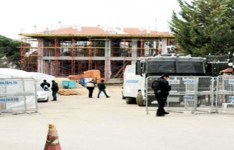 Validebağ'daki cami inşaatı