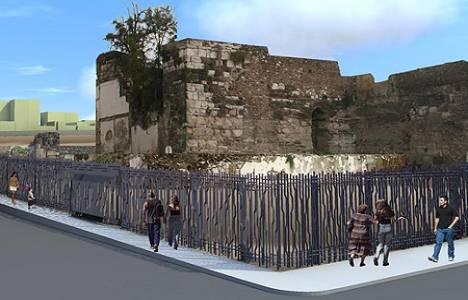 Smyrna Agorası'nın etrafına özel tasarım duvarlar örülüyor!