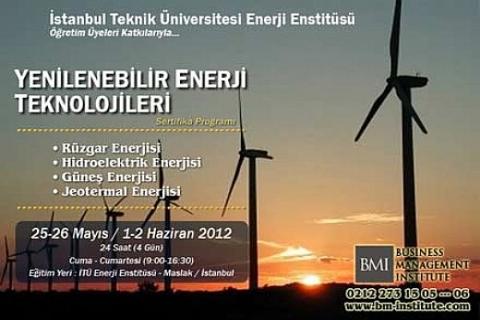 Yenilenebilir Enerji Teknolojileri, Sertifika Programı başlıyor!