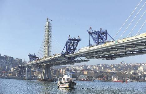 Haliç Metro Köprüsü! Çarşamba günü kaba inşaat bitiyor!