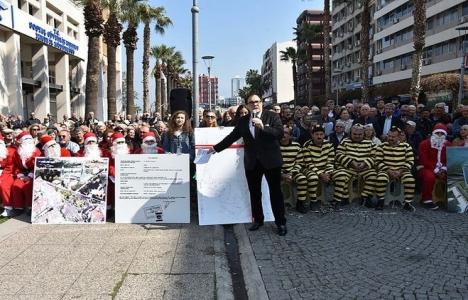 Balçova'da arsa mağdurlarından eylem!