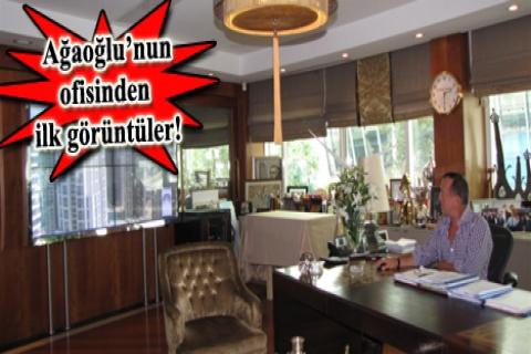 Ali Ağaoğlu, şantiyelerini ofisinden takip ediyor!