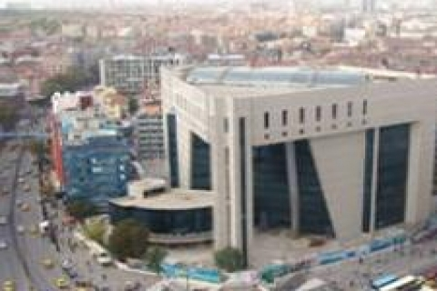 Kızılay binasının inşaat