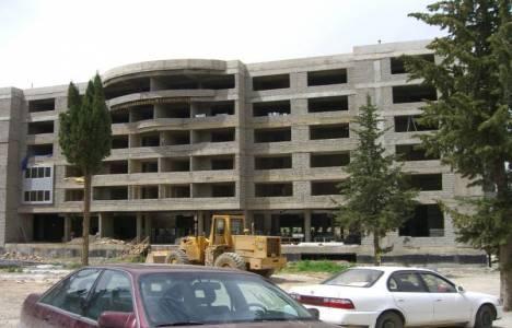Samsun'da otel inşaatında