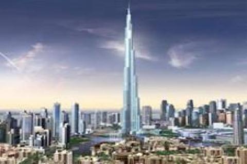 Burj Halife'ye yıldırım