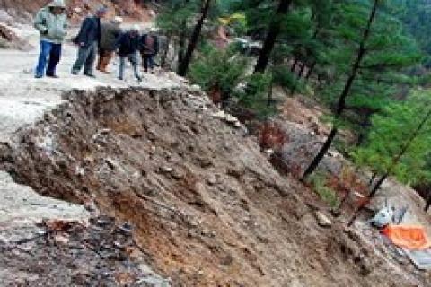Antalya'daki HES inşaatının heyelana sebep olduğu iddia edildi!