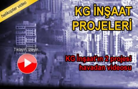 KG İnşaat'ın 2 projesi havadan görüntülendi!