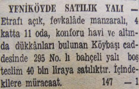 1945 yılında Yeniköy'de