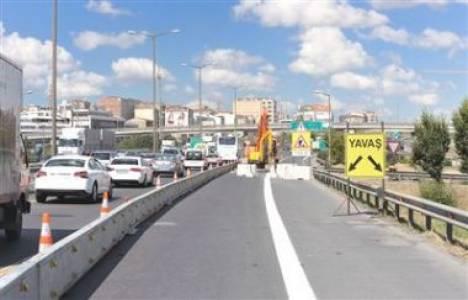 TEM Otoyolu'ndaki bakım çalışmaları trafiğe neden oluyor!