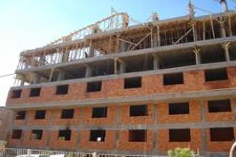 Marmaris'teki otel inşaatı,