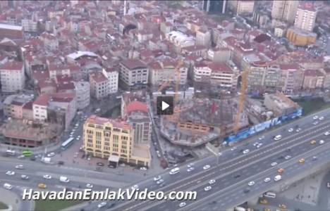 Şişli Nurol Tower'ın havadan son görüntüleri!
