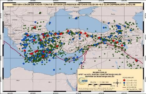 Ülkemizdeki deprem bölgeleri!