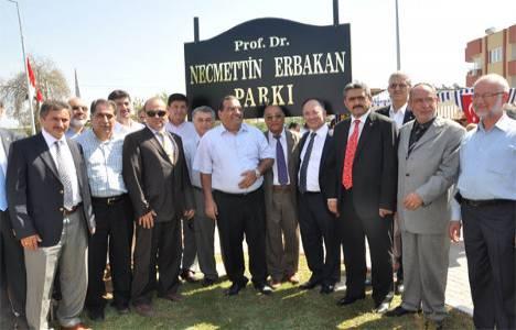 Necmettin Erbakan Parkı törenle açıldı!