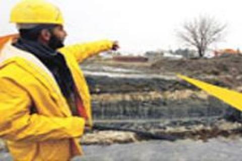 `İstanbul' heykeli kavşak çalışması sırasında yıkıldı