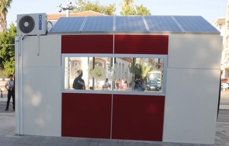 Klimalı otobüs durağı açıldı!