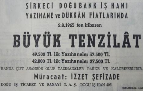 1965 yılında Doğubank'ta 27.500 liraya satılık yazıhane!