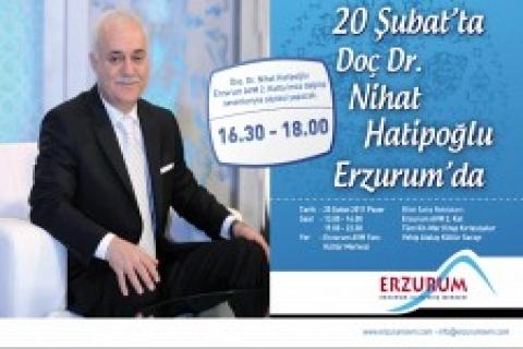 Erzurum AVM'de Nihat Hatipoğlu söyleşi yapacak!