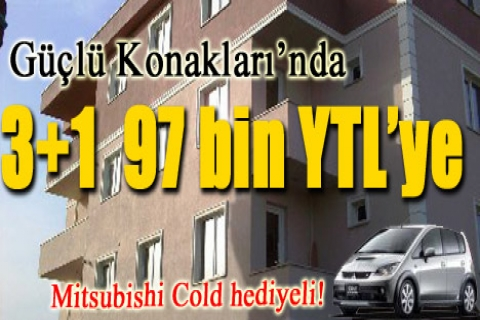 Beykent Güçlü Konakları'nda ev alana araba hediye!