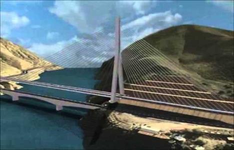 Yeni Kömürhan Köprüsü'nün inşaat çalışmaları devam ediyor!