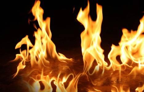Bahçelievler'de bir işyerinde yangın çıktı!