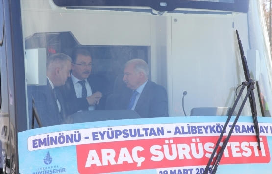 Eminönü-Alibeyköy Tramvay Hattı'nın test sürüşleri başladı!