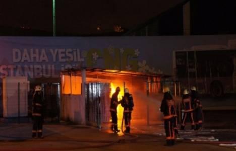 Alibeyköy doğalgaz tesisinde yangın çıktı!