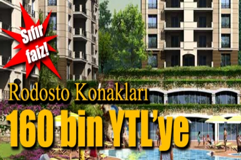 Rodosto Konakları'nda 160 bin YTL'ye!