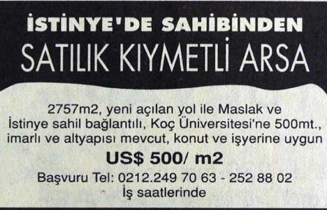 1999 yılında İstinye'de