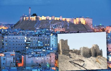 Halep Kalesi'nin duvarları