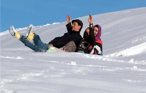 Beypazarı'nda kayak keyfi