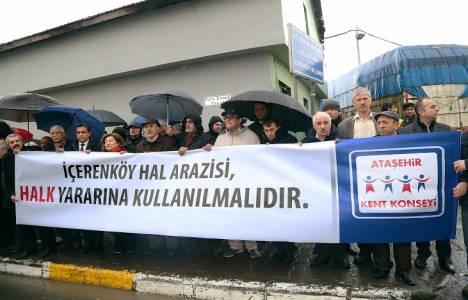 İçerenköy Hal arazisi için basın açıklaması yapıldı!