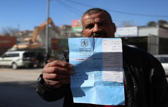 İsrail, Kudüs'te Filistinlilere ait binayı yıktı!