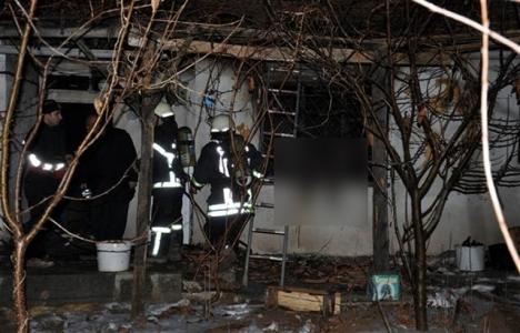 Çorum'da evleri yanan inşaat işçileri evsiz kaldı!